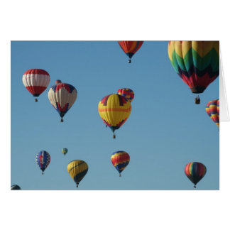 De Ballons van de hete Lucht Wenskaart