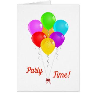 De Ballons van de partij Kaart