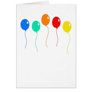 De Ballons van de verjaardag Briefkaarten 0