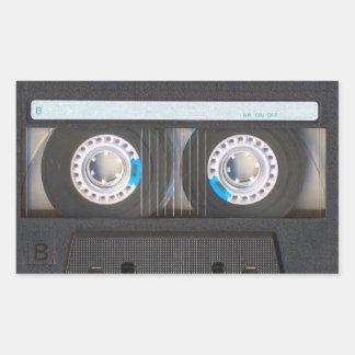 De Band van de cassette Rechthoekige Sticker