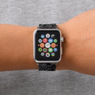 De Band van het Leer van het Horloge van Apple van