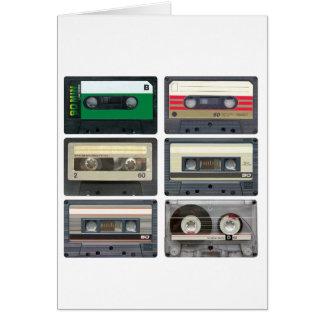 De Banden van de cassette Wenskaart