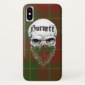 De Bandiet van het Geruite Schotse wollen stof van iPhone X Hoesje