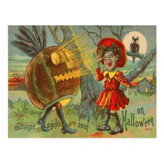 De bang gemaakte Lantaarn van O van de Hefboom van Briefkaart
