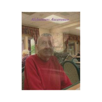 De bang gemaakte Uitdrukking van Ziekte Alzheimers Houten Poster