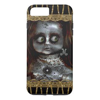De bange Angst van het Monogram van de Gothic van iPhone 8/7 Plus Hoesje