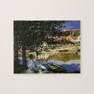 De bank van de Zegen, Bennecourt door Claude Monet Legpuzzel