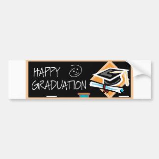 De Banner van afstuderen Bumpersticker
