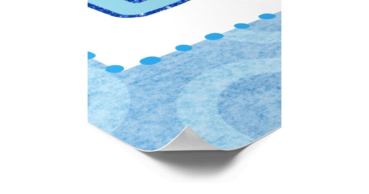 De banner van de douche van de jongen van het baby poster zazzle - Turquoise ruimte van de jongen ...