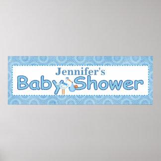 De Banner van de Douche van de Jongen van het Baby Poster