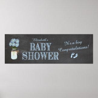 De Banner van het baby shower Poster