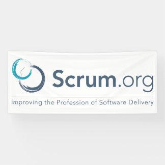 de Banner van het Logo van Scrum.org - Vinyl