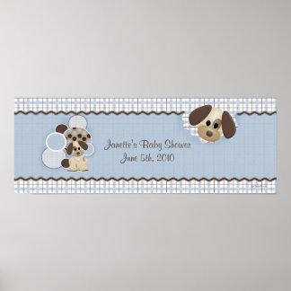 De Banner van het Puppy van het baby shower Poster