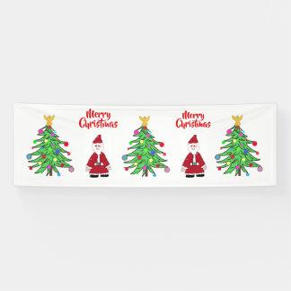 De Banner van Kerstmis voor vakantie juicht toe