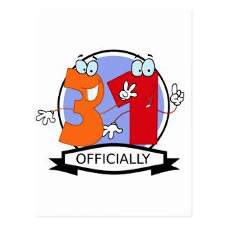 De Banner van officieel 31 Verjaardag Briefkaart