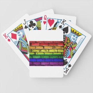 De Banner Vrolijke LGBT van de vlag Bicycle Speelkaarten