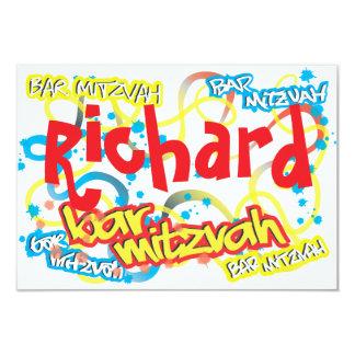 De Bar mitswa RSVP van Graffiti 8,9x12,7 Uitnodiging Kaart
