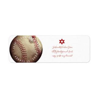 De Bar mitswa van het Honkbal ✡ PixDezines Etiket