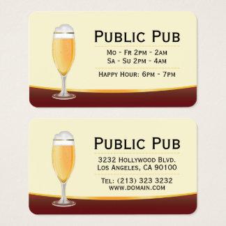 De Bar van het bier en Micro- van de Bar Brouwerij Visitekaartjes