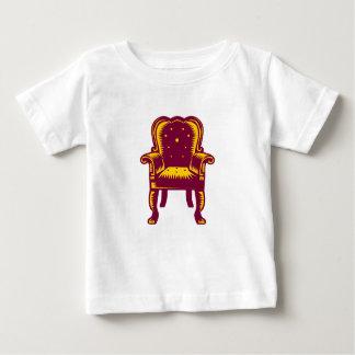 De barokke Grote Houtdruk van de Stoel van het Baby T Shirts