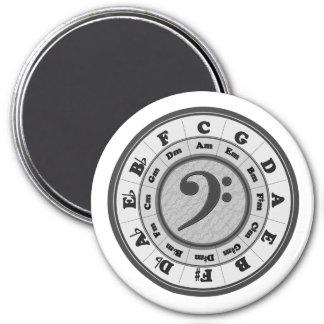 De bas Cirkel van de Sleutel van de Grote Ronde Ronde Magneet 7,6 Cm