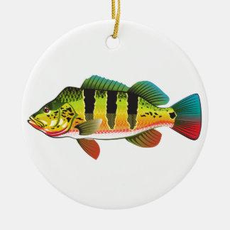 De Bas heldere Oceaanillustratie Gamefish van de Rond Keramisch Ornament