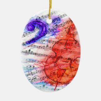 De bas Muziek van het Blad van de Besnoeiing - Keramisch Ovaal Ornament