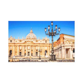 De Basiliek San Pietro van het canvas