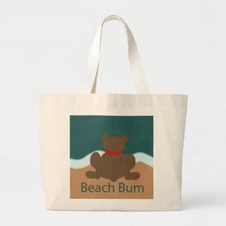 De Bedelaar van het strand draagt Grote Draagtas