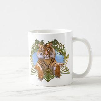 De Bedreigde Species van de tijger CREST Koffiemok