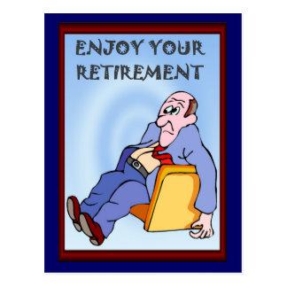 De bedrijfs vrienden, genieten van uw pensionering wens kaarten