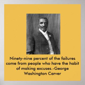 De Beeldhouwer van George Washington Poster