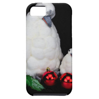 De beeldjes van de pinguïn als familie met tough iPhone 5 hoesje