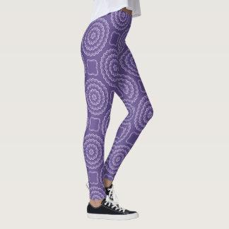 De Beenkappen van de Druk van het ultraviolette Leggings