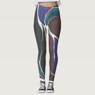 De Beenkappen van de kleur van de Draai (Donkere Leggings