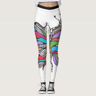 De beenkappen van de vlinder leggings
