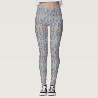 De beenkappen van de zigzag leggings