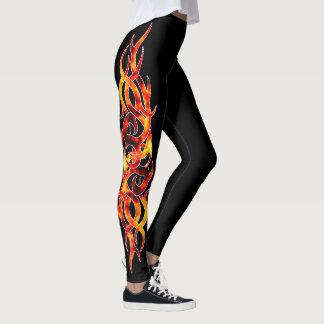 De Beenkappen van het Effect van het Tattoo van de Leggings