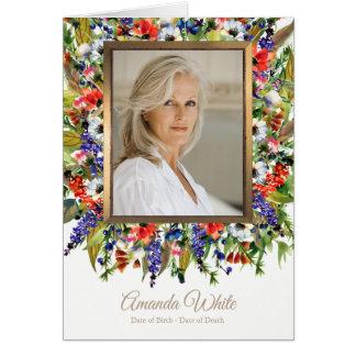 De begrafenis dankt u kaardt Bos Bloemen van | Briefkaarten 0
