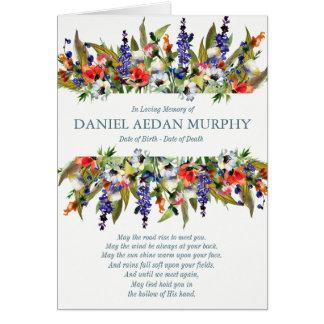 De begrafenis dankt u kaardt de Bos Wilde Bloemen Briefkaarten 0