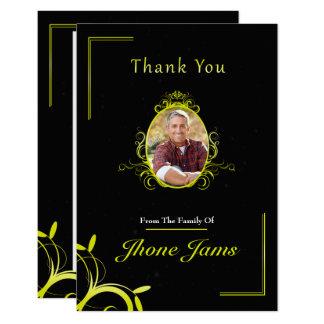 De begrafenis dankt u kaardt kaart