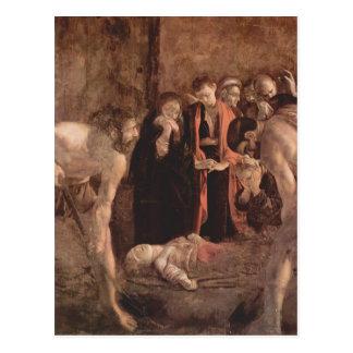 De Begrafenis van Caravaggio- van Heilige Lucy Briefkaart