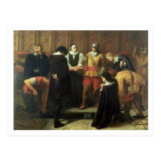 De begrafenis van Charles I (1600-49) bij St. Briefkaart