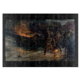De begrafenis van een Scherpe Raad van Viking Snijplank