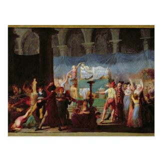 De begrafenis van Marat in de Oude Kerk Briefkaart