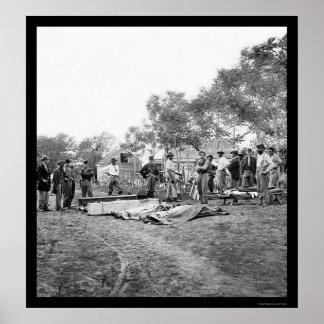 De Begrafenis van militairen in Fredericksburg, Vi Poster