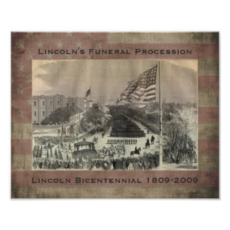 De BegrafenisOptocht van Abraham Lincoln Poster