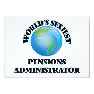 De Beheerder van de Pensioenen van Sexiest van de 12,7x17,8 Uitnodiging Kaart