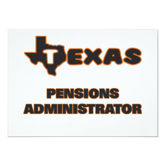 De Beheerder van de Pensioenen van Texas 12,7x17,8 Uitnodiging Kaart