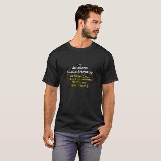 De beheerder van het gegevensbestand, programmeur, t shirt